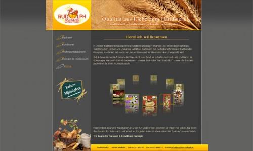 Website der Bäckerei & Konditorei Rudolph