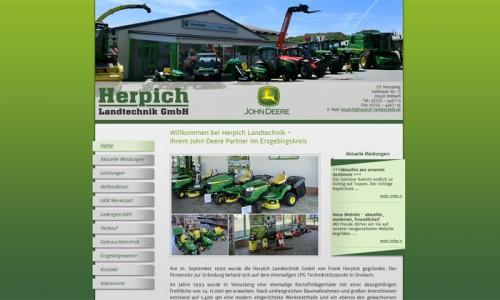 Website der Herpich Landtechnik GmbH