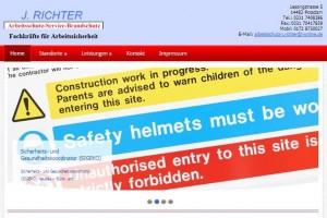 Neue Website www.arbeitschutz-richter.eu