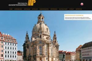 Screenshot der neuen Website www.sandsteine.de