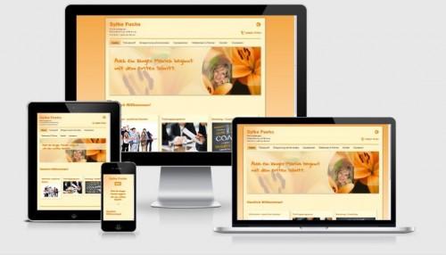 Die neue Website von Frau Fuchs sieht auf allen Geräten gut aus!